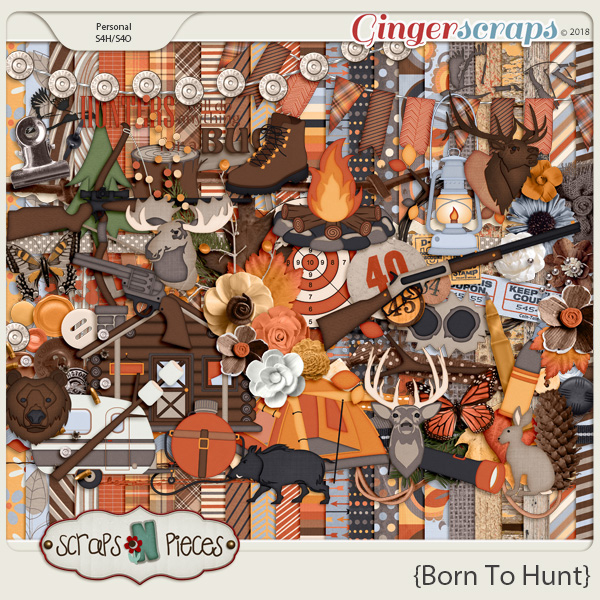 New Release: Born To Hunt, Template Pack 43 and FREEBIE ‹ Scraps N